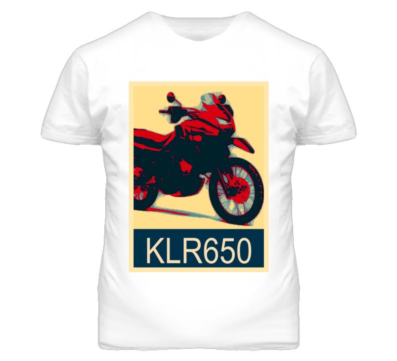 KAWASAKI KLR650 Abstract  Hope Style Motorcycle T Shirt