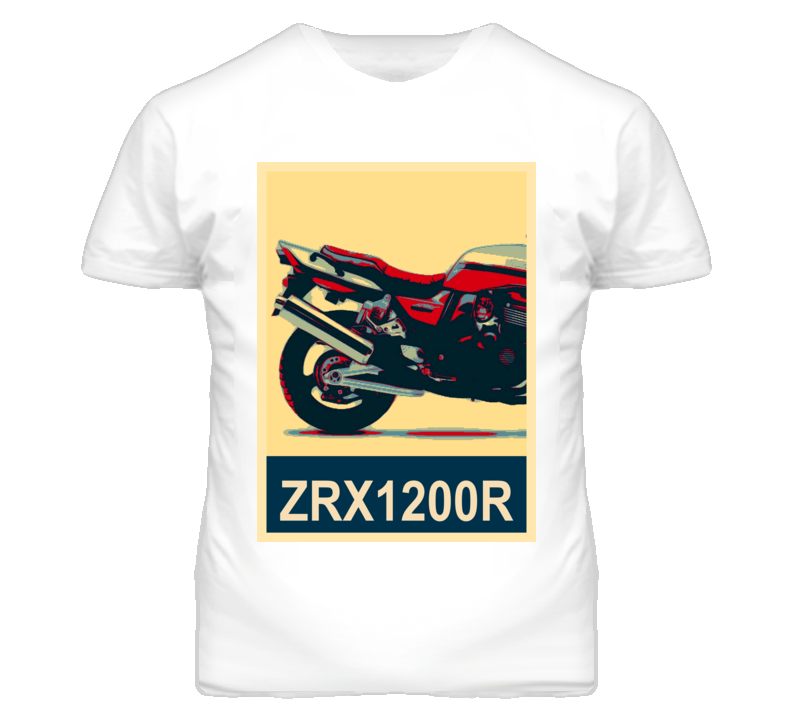 KAWASAKI ZRX1200R Abstract  Hope Style Motorcycle T Shirt