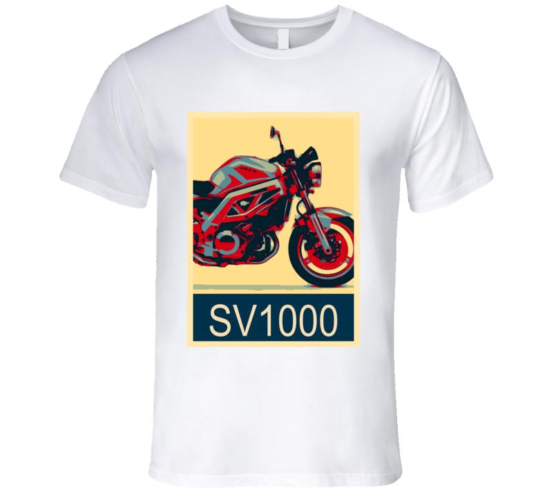 SUZUKI SV1000 Abstract  Hope Style Motorcycle T Shirt