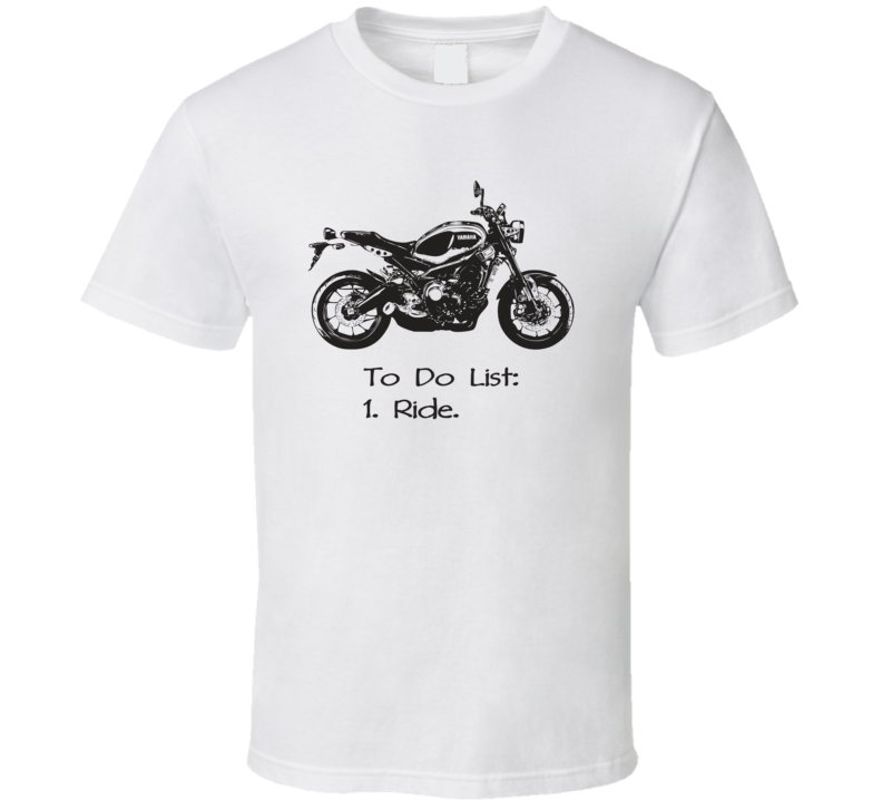2016 XSR900 Side View With Slogan Light Color T Shirt