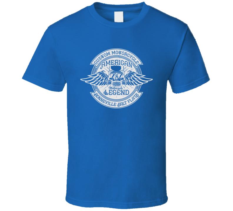 American Motorcycle Legend Vintage Style Motorcycle Dark Color T Shirt