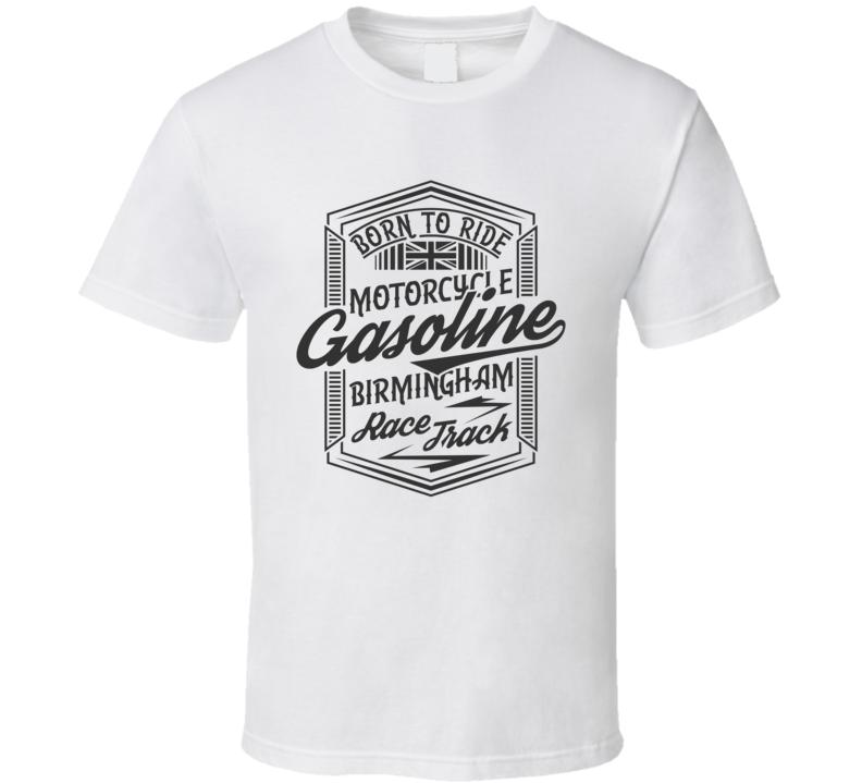 Birmingham Race Track Vintage Style Motorcycle Light Color T Shirt