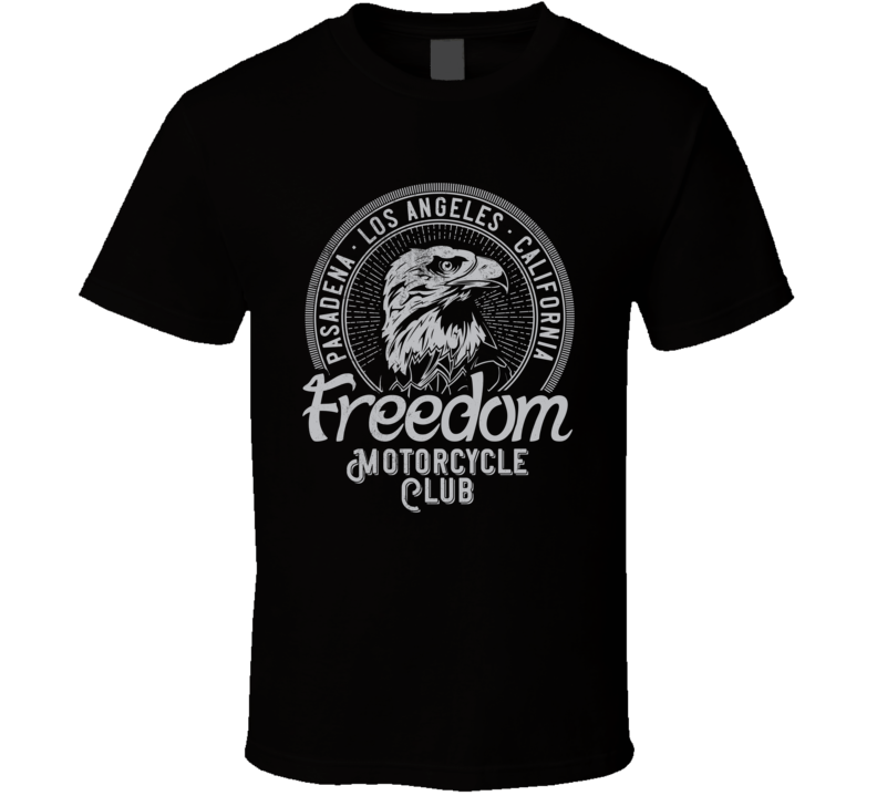 Freedom Motorcycle Club Vintage Style Motorcycle Dark Color T Shirt