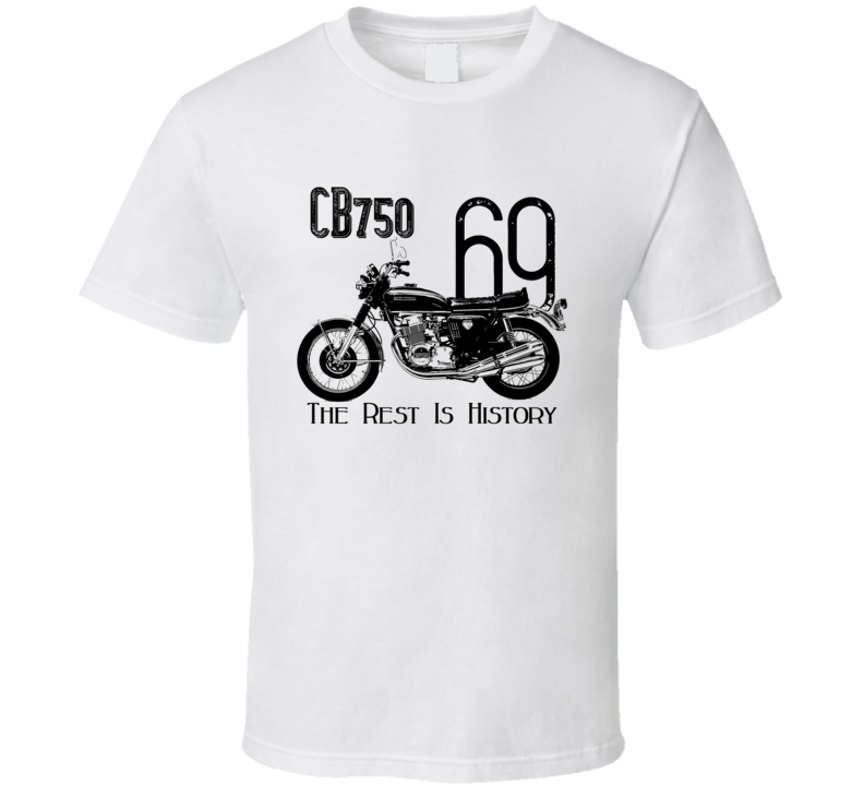 1969 Cb750 Side View Vintage Style Light Color T Shirt