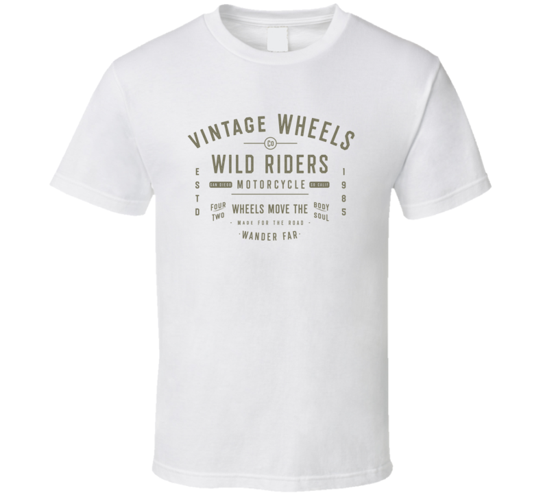 Wild Riders Vintage Style Motorcycle T Shirt