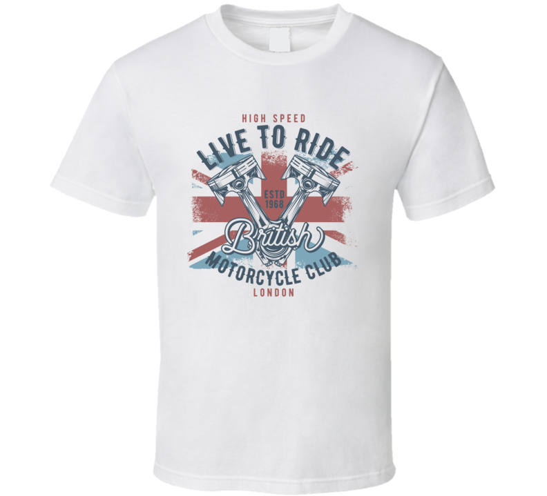 British Motorcycle Club Vintage Style Motorcycle T Shirt