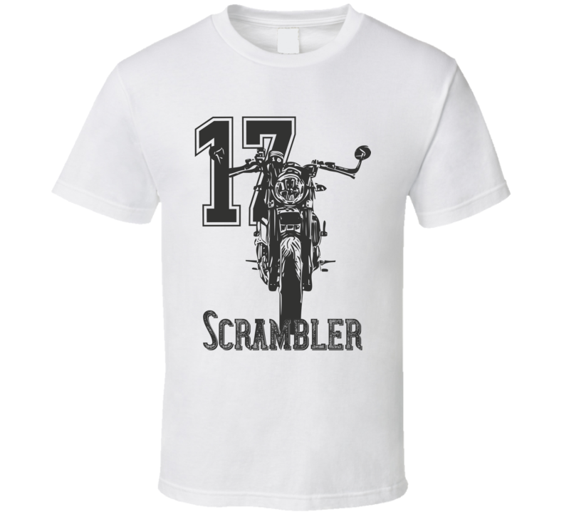 2017 Scrambler Cafe With Year And Model Light Color T Shirt