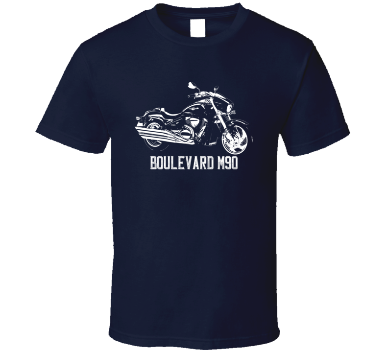2013 Boulevard M90 Side View With Model Name Dark Color T Shirt