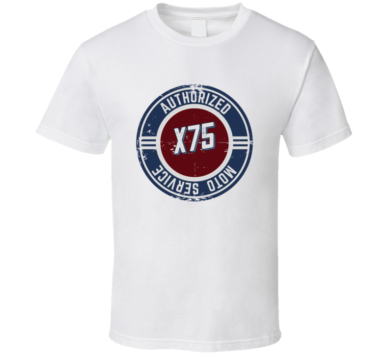 Authorized Service X75 Vintage Style Motorcycle T Shirt