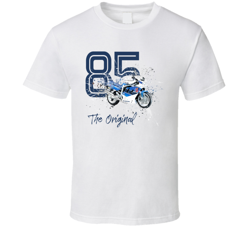 1985 Gsx R 750 Side View Shatter Style Motorcycle Light Color T Shirt