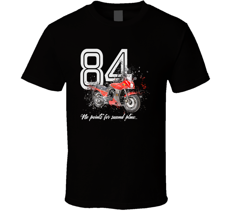 1984 Zx900 Ninja Side View Shatter Style Motorcycle Dark Color T Shirt