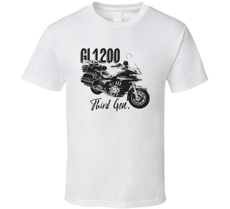 Gold Wing Gl1200 Third Generation Side View Motorcycle Light Color T Shirt
