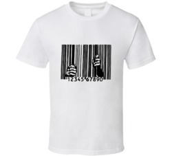 End The Madness UPC Code Bars Prison Industrial Complex T Shirt Reform Not Incarceration