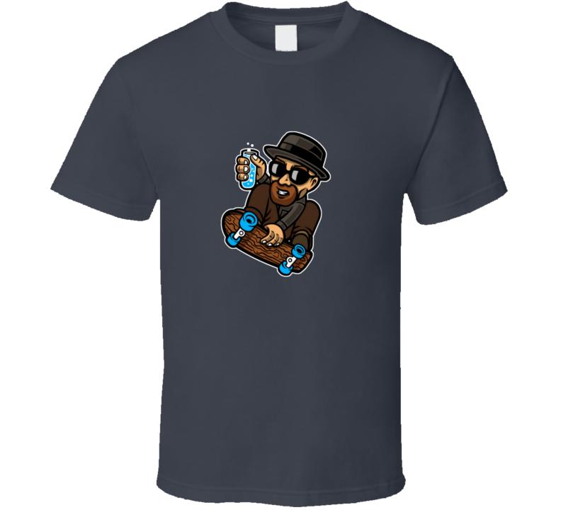Heisenberg on a skate board Breaking Bad Walter White skating T Shirt