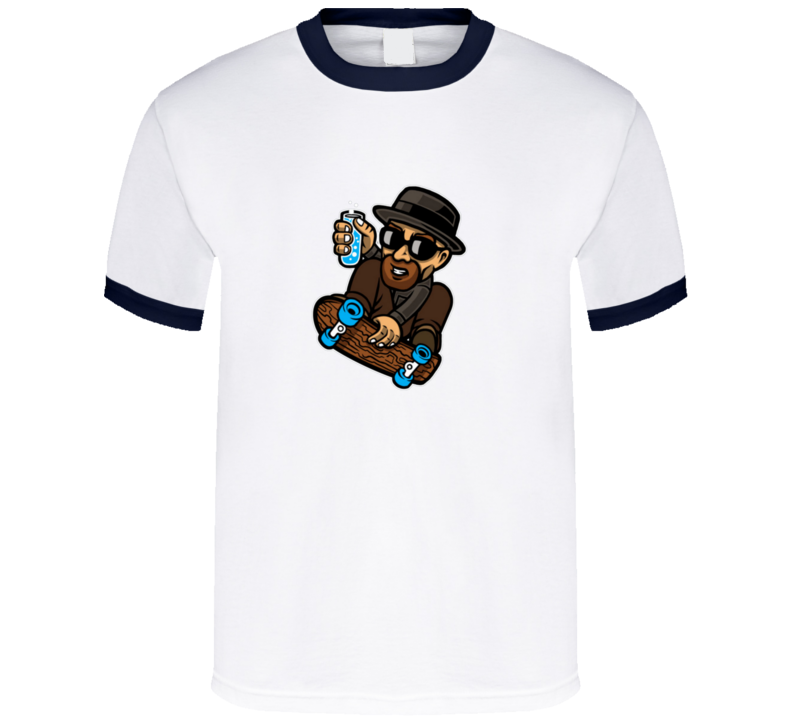 Heisenberg on a skate board Breaking Bad Walter White skating  T Shirt