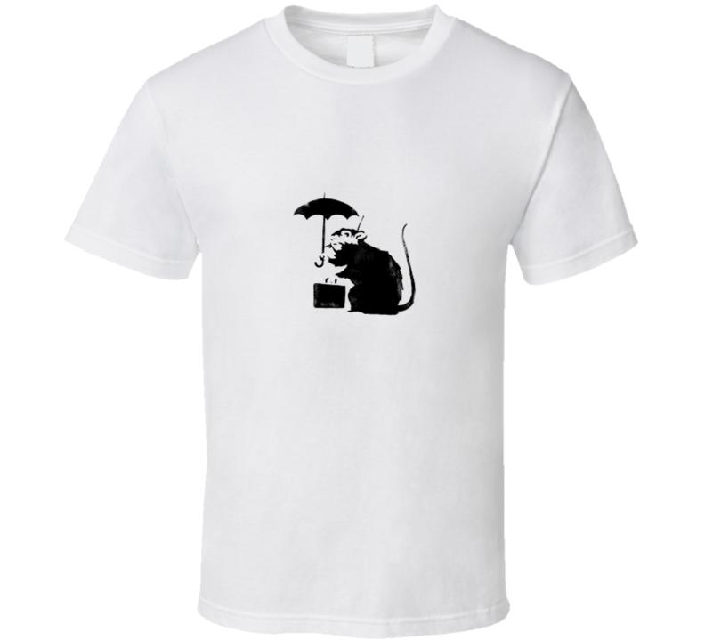 Banksy Graffiti Rat Briefcase Umbrella  T Shirt