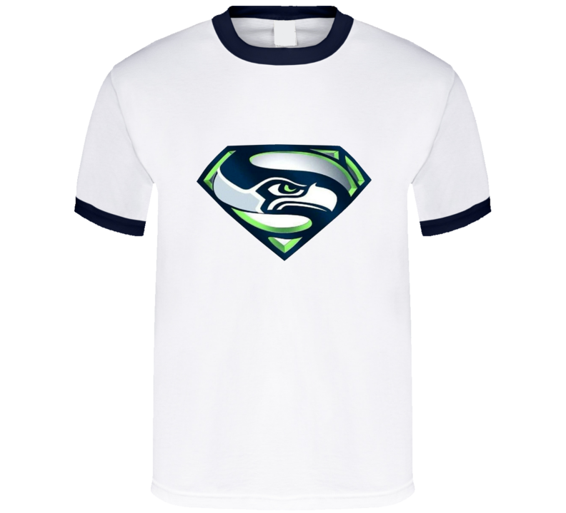 Seahawks Superman Logo Mashup T Shirt Best Seattle Parody