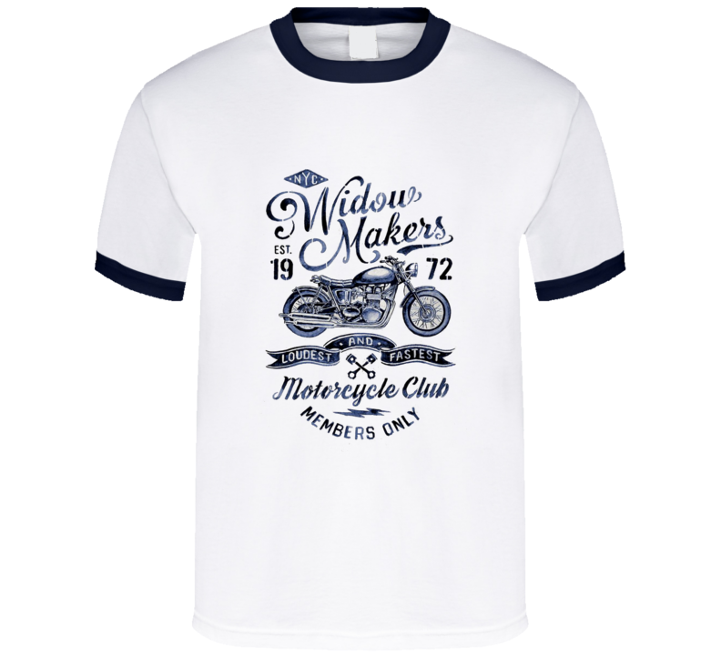 Widow Makers Motorcycle Club Vintage  Widowmaker Badge T Shirt NYC