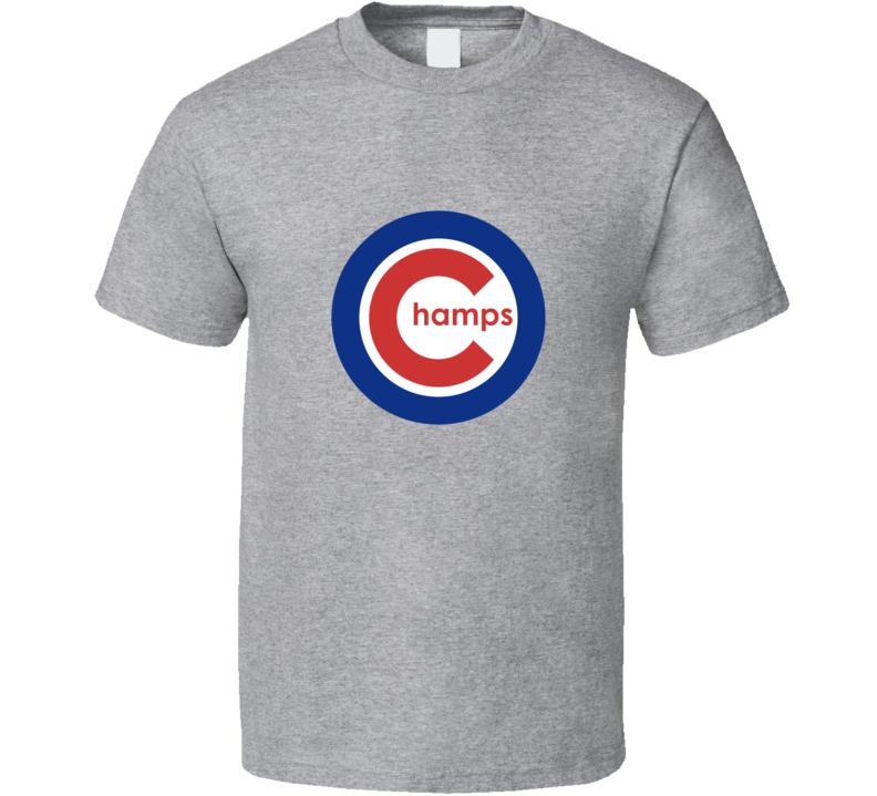 Chicago Baseball Logo Parody Champs 2016 World Champs T Shirt