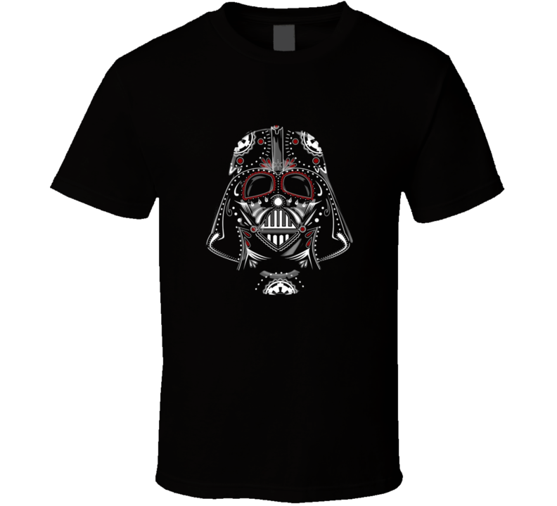 Darth Muertos Day of the Dead Vader Star Wars Mashup T Shirt Perfect for Halloween