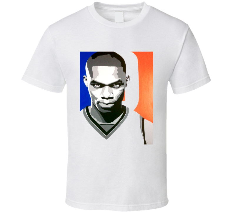 Russell Westbrook Drawing OKC Basketball T Shirt Number 0 Oklahoma