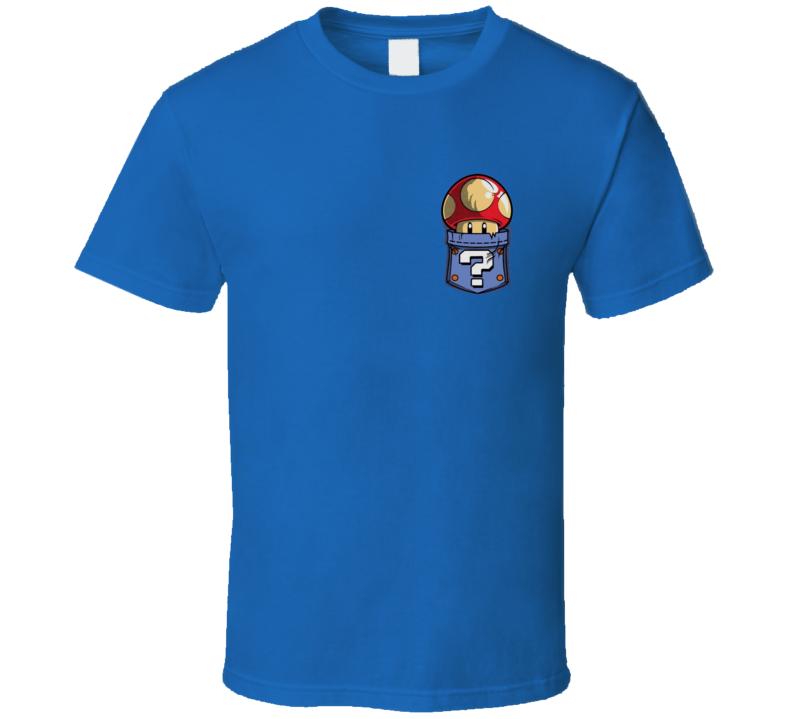 Magic Mushroom in Pocket Super Mario Bros Retro 80s  T Shirt Gamer Essential