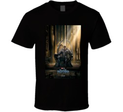 The Black Panther  Marvel Hero Movie Poster  T Shirt