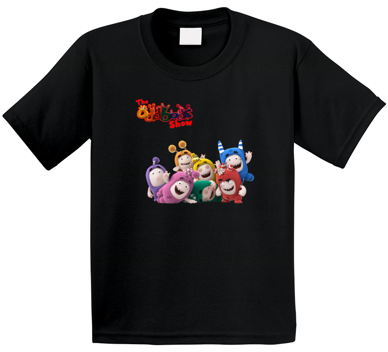 Oddbods Cute Grouping Cartoon  T Shirt