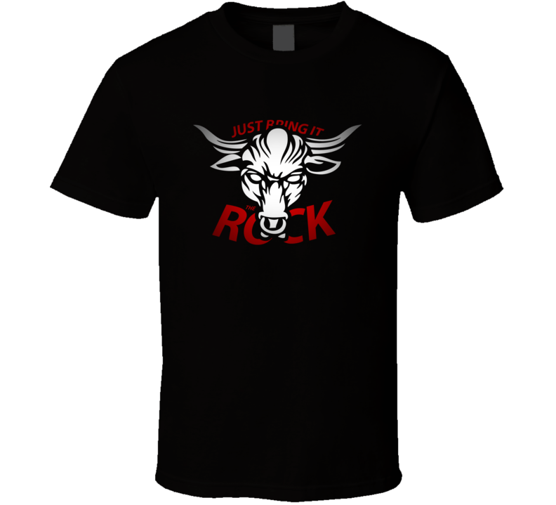 If You Smell What The Rock Is Cooking Bull Style Wrestling T Shirt