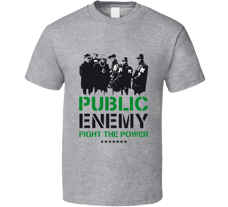 Public Enemy Fight The Power  T Shirt