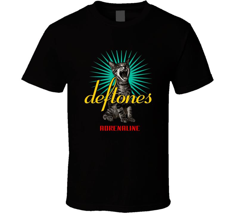 Deftones Adrenaline Cat Logo T Shirt