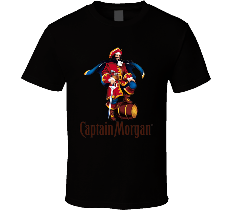 Captain Morgan Pirates Beer Logo  T Shirt