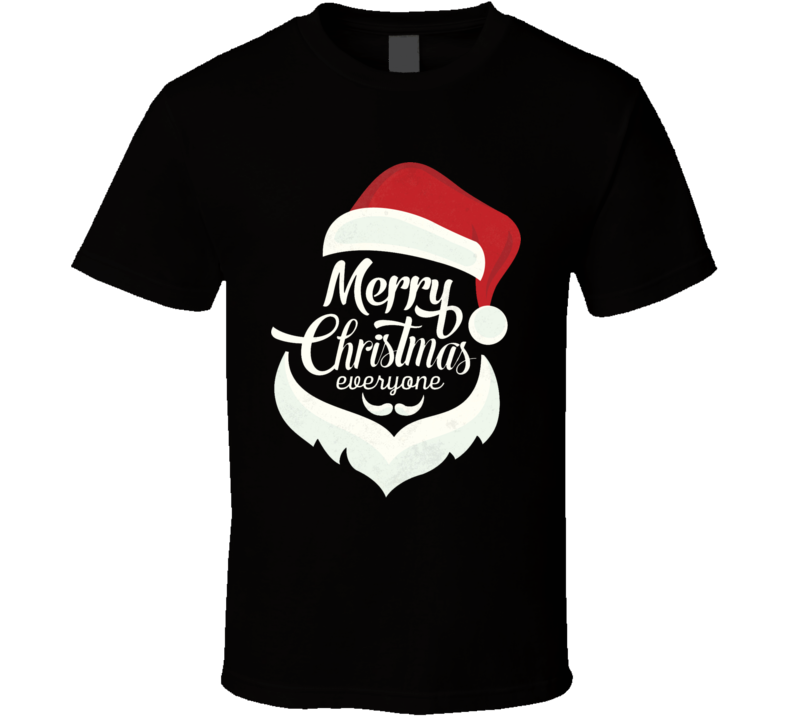Santa Snow Cap Merry Christmast Everyone T Shirt