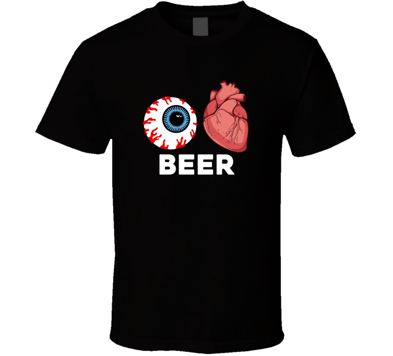 Halloween Beer Eyes And Hearts T Shirt