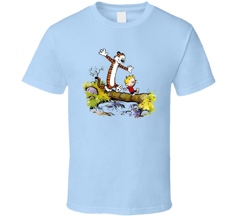 Calbvins And Hobbes Bridge Tree T Shirt