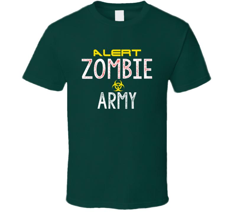 Zombie Army Halloween T Shirt