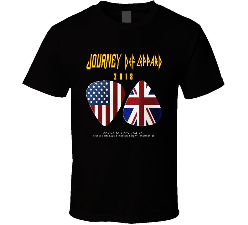 Rock Style Journey Def Leppard Jan 2018 Music T Shirt