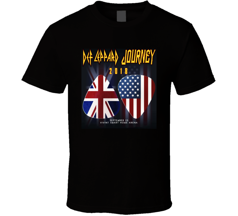 New 2018 Journey & Def Leppard Tour North America T Shirt