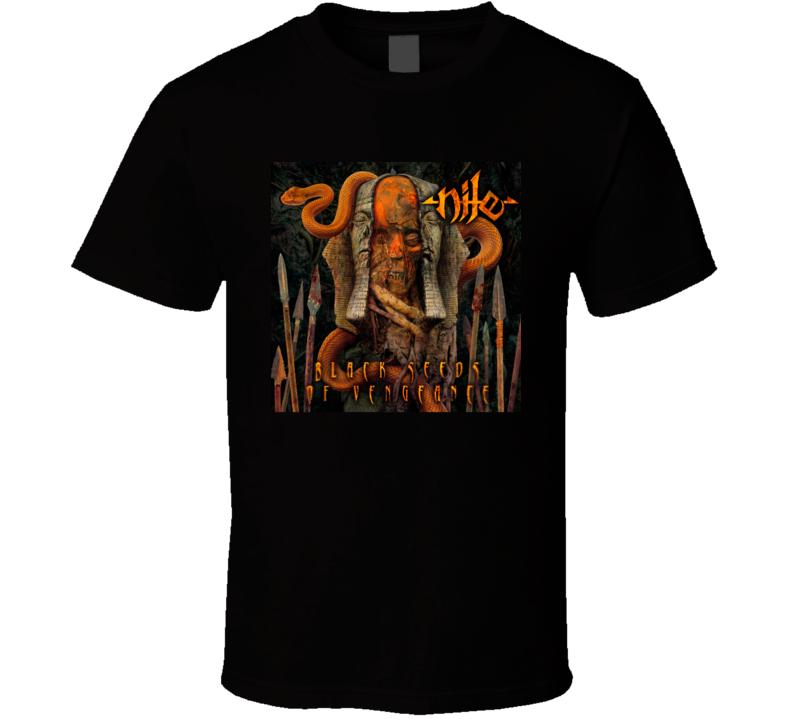 New Hot Rock Metal Black Seed Of Vegeance Album T Shirt