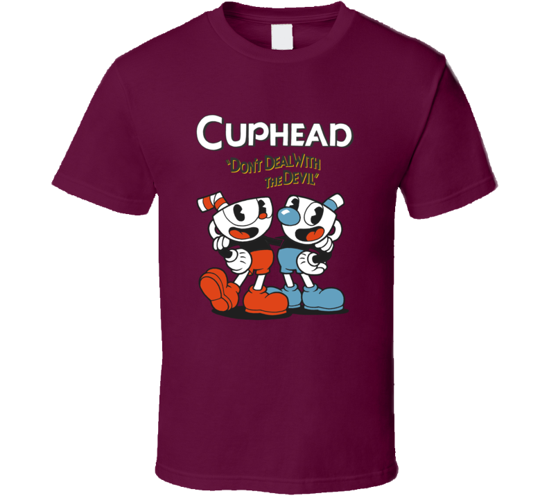 New Hot Style Cup Head Dont Deal With The Devil Video Game T Shirt