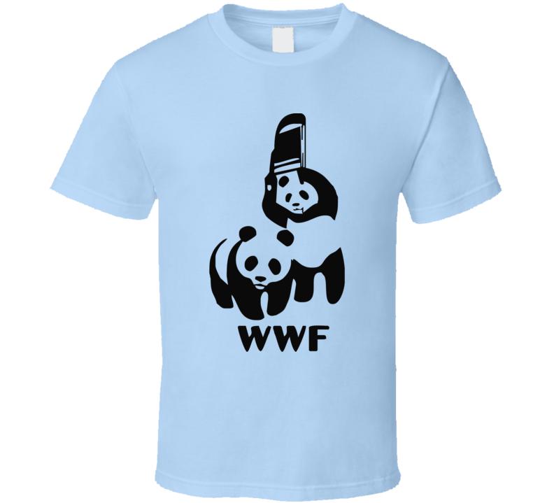 New Parody Style Wwf Funny Logo Wrestling World Wildlife Animal  T Shirt