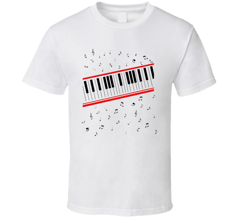 Piano Beat It Style Retro Vintage Hipster T Shirt
