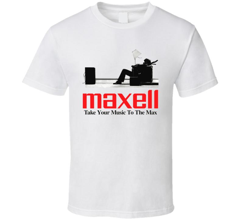 Maxell Casette Tape  Blown Away Speakers T Shirt