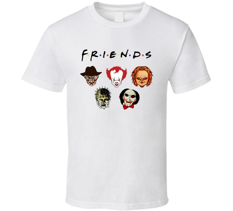 New Style Psychodynamics Horror Characters Friends T Shirt