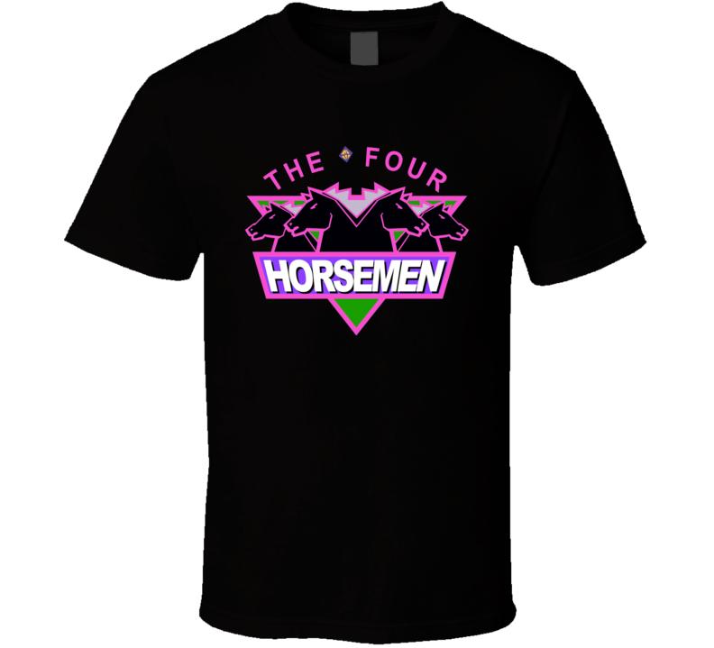 New Four Horsemen Wcw Retro Wrestling T Shirt