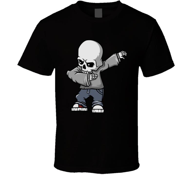 Boys Skull Dabbing Skeleton Halloween T Shirt