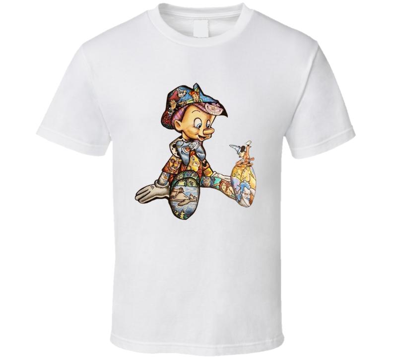 Pinocchio Cartoon Movie Funny Classic T Shirt