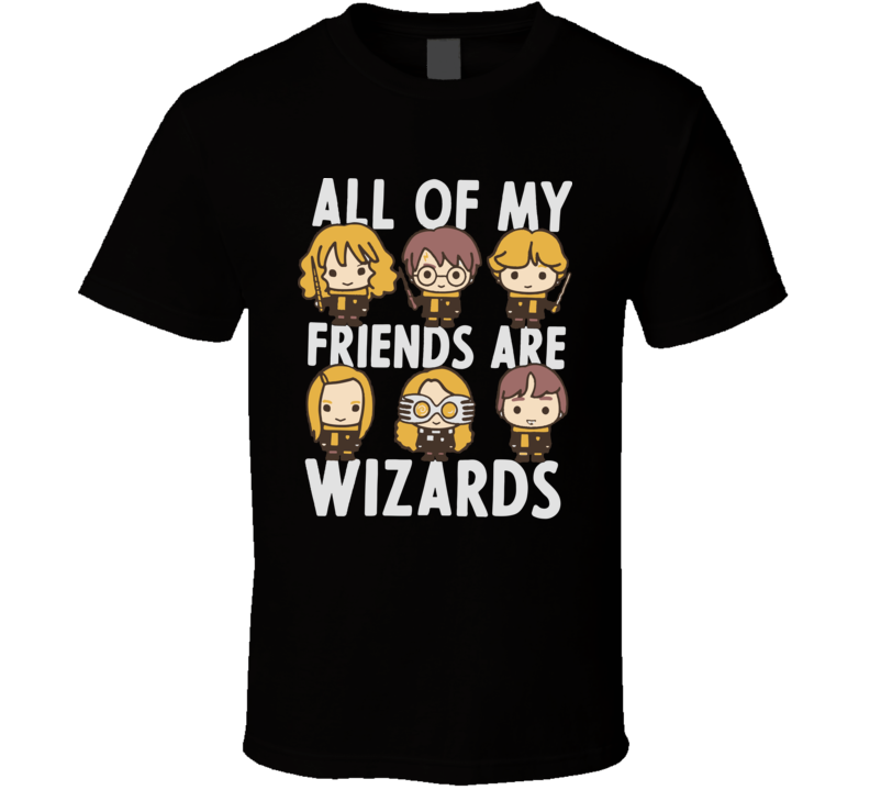 Harry Potter All Of My Friends Are Wizards T Shirt