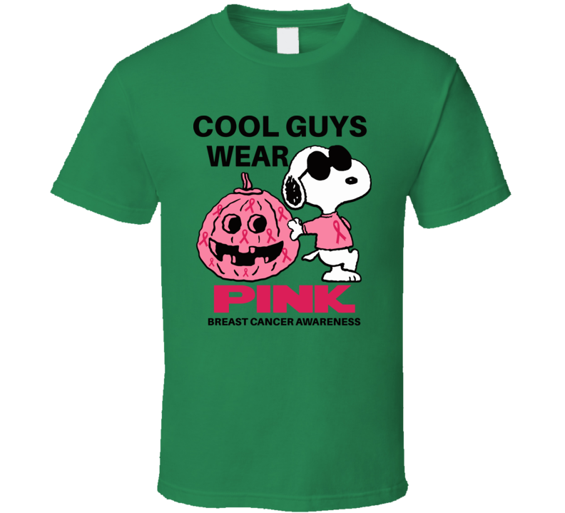 Snoopy Cool Guys Wear Pink  T Shirt