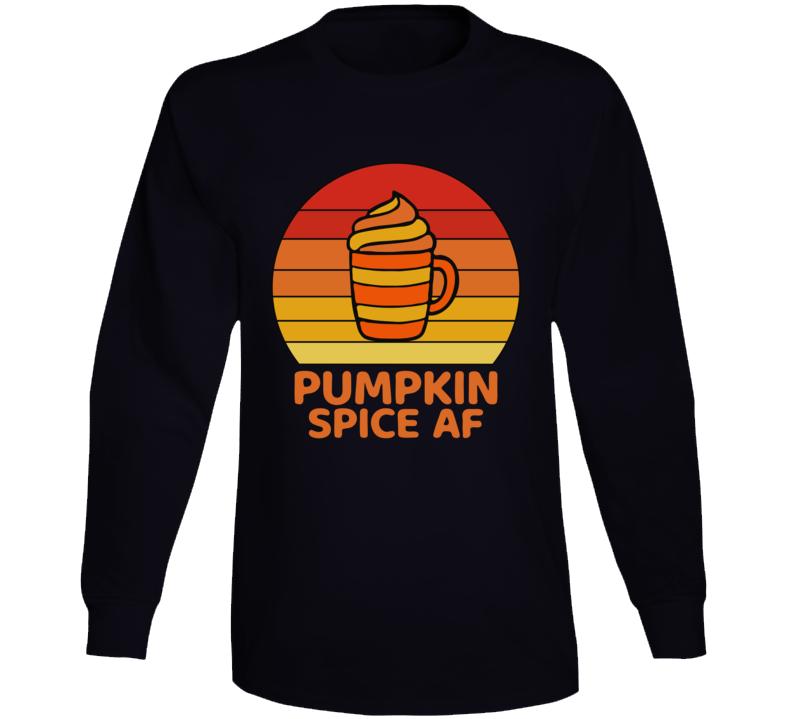 Vintage Pumpkin Spice Af Halloween Long Sleeve T Shirt